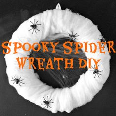 Katy Clouds: Spooky Spider Halloween Wreath DIY!