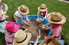 party games, cowboy birthday, gold rush, cowboy theme, birthday parties, cowboy parti, gold panning, cowboy party, birthday ideas