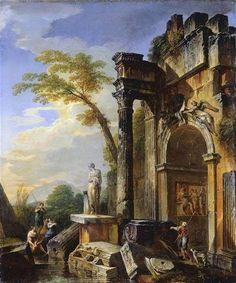 Cuadro de Giovanni Paolo Pannini Ruins of a Triumphal Arch