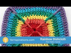 How To Crochet a Dishcloth: Over the Rainbow