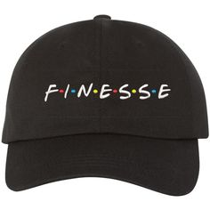 FINESSE Dad Hat Baseball Hat Low Profile Embroidered Baseball Cap,... (20 CAD) ❤ liked on Polyvore featuring accessories, hats, embroidered hats, baseball caps, embroidered baseball caps, ball cap hats and ball cap