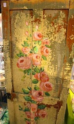 Old Time Shabby Chic Home Decor and Vintage Furniture Shabby Chic Furniture, Shabby Chic Decor, Painted Furniture, Antique Furniture, Furniture Ideas, Rose Cottage, Cottage Style, Cottage Door, Decoupage