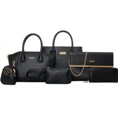 Free Shipping. Buy 6Pcs Handbag and Purse Set, Coofit Faux Leather Chic Tote Handbag Shoulder Bag Pouch Wallet Bag Set for Women Ladies(Black) at Walmart.com