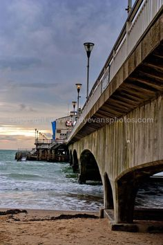 Bournemouth Pier and Beach Dorset, England photograph picture print by AE Photo