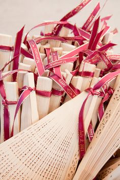 Fans for guests during a hot ceremony are a perfect idea, and can also be used as a wedding favor.