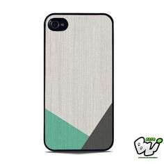Geometric Wood Mint And Grey iPhone 5 | iPhone 5S Case