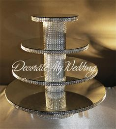 cake and cupcake displays | Crystal Cutting Cakes Bride & Groom Cake Centerpieces Cupcake Stands