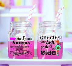 Etiquetas  Frascos Botellas Transparentes X12 Unid  8x8.5 Cm - $ 90,00 Savings Box, Personalized Tumblers, Ideas Para Fiestas, Bbq Party, Lalaloopsy, Jar Gifts, Candy Shop, Mason Jars, Projects To Try
