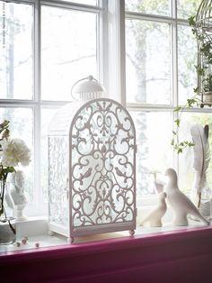 Nyhet! GOTTGÖRA ljuslyktor skapar en romantisk stämning hemma, finns även i en mindre modell i rosa för värmeljus.