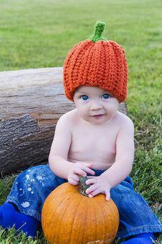 Pumpkin Hat  preemie newborn  3 month 3  6 month 6 by jwhizcrochet, $15.00
