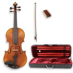 Legacy LVN-700 Step-Up Student Violin Full Size (4/4) with Ebony Fittings…