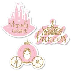 Little Princess Crown - DIY Shaped Pink and Gold Princess Baby Shower or Birthday Party Cut-Outs - 24 Count - - Trend Unterhaltsame Ideen 2019 Baby Girl Shower Themes, Girl Baby Shower Decorations, Baby Shower Party Favors, Baby Shower Princess, Baby Shower Parties, Princess Theme Birthday, Pink And Gold Birthday Party, Birthday Diy, Girl Birthday