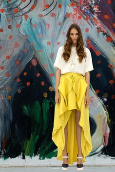 Long yellow skirt...I think I'm in love