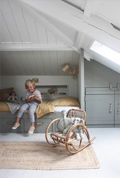 Attic Bedroom Designs, Attic Rooms, Attic Spaces, Kid Spaces, Living Room Designs, Loft Room, Bedroom Loft, Girls Bedroom, Childrens Room Decor