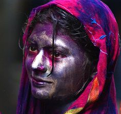 hindu holi festival is to welcome spring they throw colored powder onto each other to welcome the colors of spring