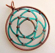 Circles in Circles Pendant by Zoraida  (Patchogue, NY)