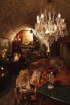 Underground bedroom, looks like the one from V for Vendetta?