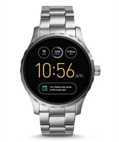 15fb4c495 Fossil Q Founder Two-Tone Black Stainless Steel Bracelet Smart Watch Smoke  Ip/Black Ip