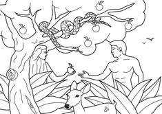 adam and eve coloring pages | adam-and-eve-ate-from-the-forbidden-tree1.jpg