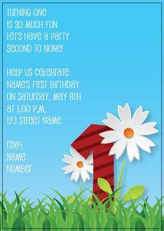 BFY_017 Invite, Invitations, Turning One, Street Names, Baby First Birthday, First Birthdays, Rsvp, Monkey, Herbs