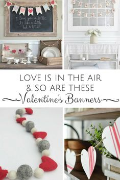 Valentine's banners are the perfect way to decorate for Valentine's Day…. Valentine's banners are the perfect way to decorate for Valentine's Day. Banners can be a kiss to those you love without smothering. Valentine Banner, Be My Valentine, Valentines Day Decorations, Valentine Day Crafts, Valentines Day Decor Rustic, Valentine Ideas, Diy Banner, Banner Ideas, Valentine's Day Diy