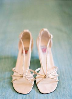 champagne strappy heels // photo by KurtBoomerPhoto.com