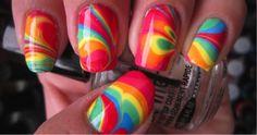 Rainbow Swirl Nails Tutorial