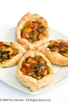 Puff Pastry Boats With Mediterranean Vegetables by ilva-b, via Flickr