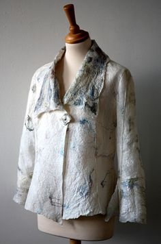 Katie Antonio....nuno felt jacket(made by the artist from silk and merino tops).