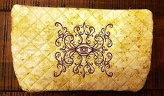 Custom Order Quilted Purse Clutch Bag Makeup by Allamericanacrafts