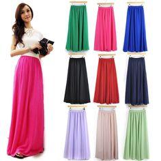 Empire Waist Maxi Skirt