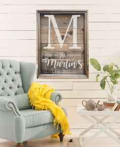 Family Established Sign | Last Name Sign | Large Farmhouse Sign | Wedding Gift | Wedding Decor | Home Decor | Reclaimed Weathered Wood Style by wavynavy on Etsy