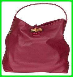 Gucci Raspberry Leather Hip Bamboo Medium Tote Bag - Shoulder bags (*Amazon Partner-Link)