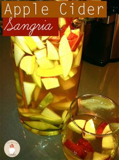 Apple-Cider-Sangria. Cam't wait to have this for  a fall get-together. #drinks #fall