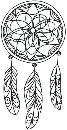 Simple Dream Catcher Coloring Page