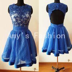 Royal Blue Short Prom Dress 2014Bridesmaid by AmyFashionDress, $99.00