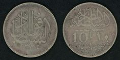 Scarce Egyptian Silver Coin 1920 AD or 1338 AH One Year Type 10 Piastres Sultan Fuad The First