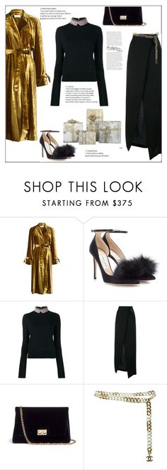 """""""Christmas Party"""" by frenchfriesblackmg ❤ liked on Polyvore featuring A.L.C., Jimmy Choo, Marni, Ann Demeulemeester, Rodo and Chanel"""