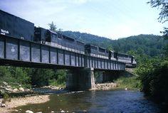 Southern Railway freight train on Mill Creek steel plate girder bridge