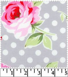 Large Roses  Dots on Aqua Flower Sugar Lecien by NauvooQuiltCo. $4.95, via Etsy.
