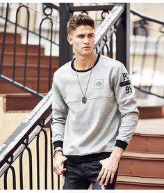 stylish clothes,newest fashion,hot new outfits,shop fashion Milan Men's Fashion Week, Stylish Mens Outfits, Stylish Clothes, Grey Sweatshirt, Mens Sweatshirts, Types Of Fashion Styles, Printed Shirts, Poses, Menswear
