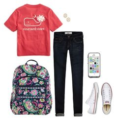 """I want this shirt!"" by sc-prep-girl ❤ liked on Polyvore featuring Abercrombie & Fitch, Vineyard Vines, Vera Bradley, Converse and Kendra Scott"