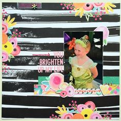 Scrapbook layout created with Bella Blvd's Illustrated Faith: She Blooms collection