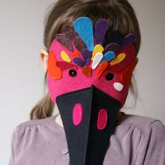 carnaval Diy Projects To Try, Projects For Kids, Diy For Kids, Crafts For Kids, Felt Puppets, Bird Masks, Felt Birds, Diy Costumes, Mask For Kids