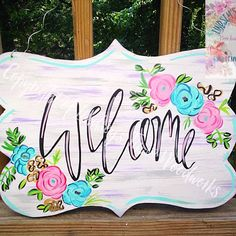 Everyone's Mom needs a gift for Mother's Day! We have you covered for that! Our new floral Welcome sign design would be perfect as a gift for all those lovely Moms out there! It comes fully customizable! Want to change it to a last name or 1-3 monogram? No problem! They come fully customizable to you! Swipe to see our options of display! They are available as a door hanger for $38 or as a yard sign for $35! Check out our pricing guide for other sizes and pricing! Order HERE or our Facebook…