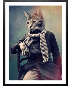 Cat in Scarf of John Keddie now on JUNIQE!