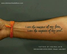 Exceptional Idea Of Quoted Tattoo For Men
