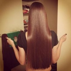 long straight shiny soft hair