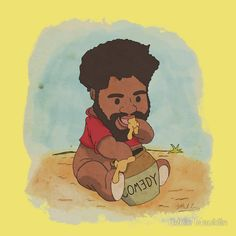 Comedian Ron Funches as Ronnie the Pooh. Perfect!