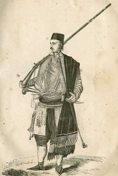 Muška crnogorska nošnja iz vremena Petra II Petrovica Njegoša